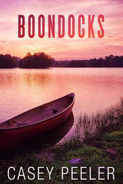 Image of Casey Peeler's Boondocks, Young Adult Romance, Boat on lake at dusk